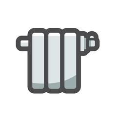 radiator heating device icon cartoon vector image