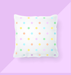 realistic detailed 3d pillow mock up vector image