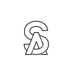 S a a letter lines logo design vector