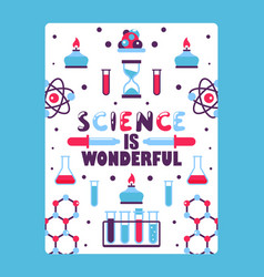 Science book cover for children vector