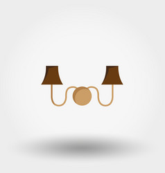 Sconce wall light icon flat vector