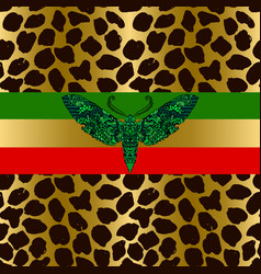 Seamless leopard pattern animal skin grunge vector