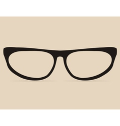 Secretary black flat eye glasses vector image