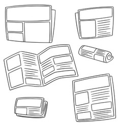 set of newspaper vector image