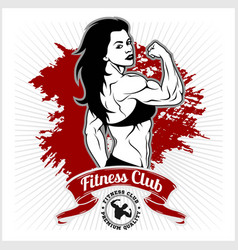 sexy girl in sportswear fitness lifestyle vector image