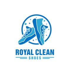 shoe laundry logo design vector image