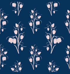 spring floral seamless pattern tulip flowers vector image