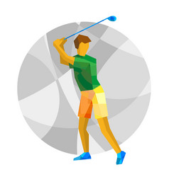 Summer games - golf golfer with abstract patterns vector