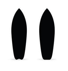 surfboard set in black color vector image