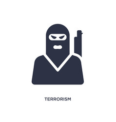 Terrorism icon on white background simple element vector