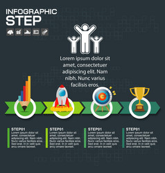 Timeline infographics design template with 5 vector