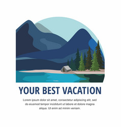 vacation and tourism mountain landscape vector image