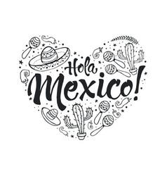 Viva mexico heart vector