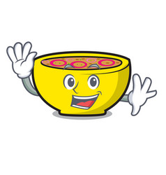 waving soup union character cartoon vector image