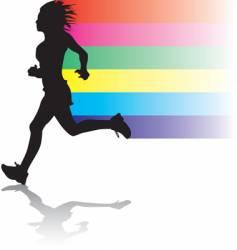 Woman jogger vector