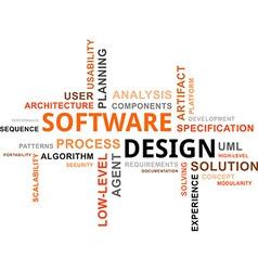 Word cloud software design vector