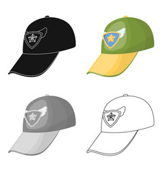 cap football fanfans single icon in cartoon style vector image vector image