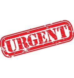 Urgent stamp vector image vector image