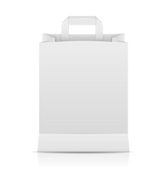 white paper shopping bag vector image