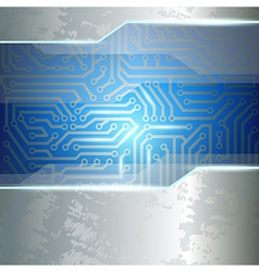 background of metal and chips vector image