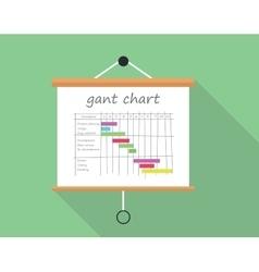 Gant chart project management vector image vector image