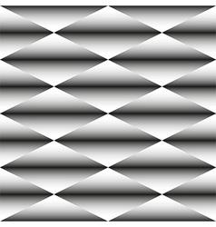 Geometric monochrome seamless pattern of rhombus vector image vector image