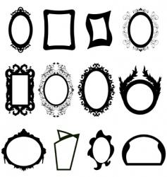 mirror silhouettes set vector image vector image