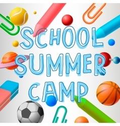School summer camp vector image vector image