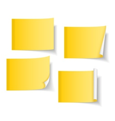 Yellow Sticky Notes vector image vector image
