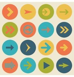 Arrow sign icon set flat design of web design vector image