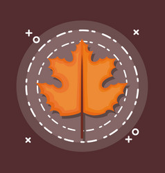 colorful autum leaves vector image