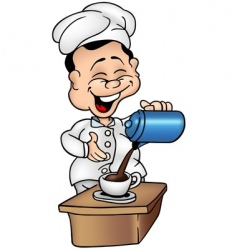cook and coffee vector image vector image
