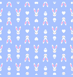easter blue seamless pattern retro bunny vintage vector image vector image