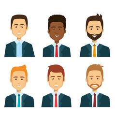 Group of businessman teamwork vector