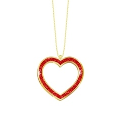 Pendant heart in a frame vector image vector image