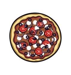 Pizza vector image vector image