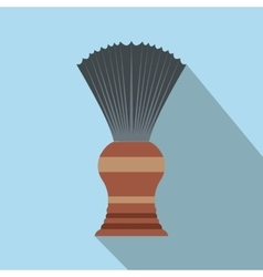 Shaving brush flat icon with shadow vector image