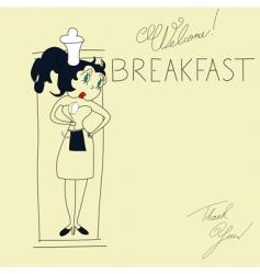 template for breakfast menu vector image vector image