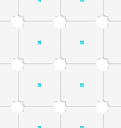 White squares with blue dots tile ornament vector image vector image