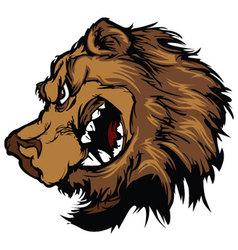 bear grizzly mascot head cartoon vector image
