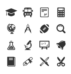 Education and school icons white vector image vector image