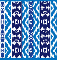 ethnic striped blue seamless pattern vector image vector image