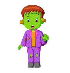 halloween frankenstein cartoon vector image
