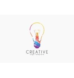 Lightbulb logo Idea logo Creative logo Bulb vector image