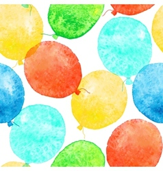Seamless pattern with colorful watercolor balloons vector image