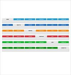 Simple web menu header set vector image