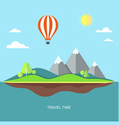 travel flat with landscape vector image