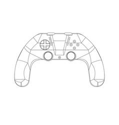 3d model of joystick on a white vector