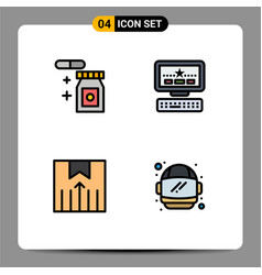 4 creative icons modern signs and symbols vector