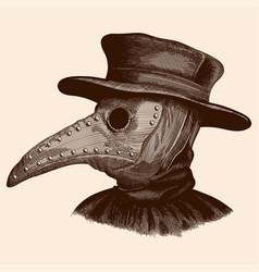 A plague doctor vector
